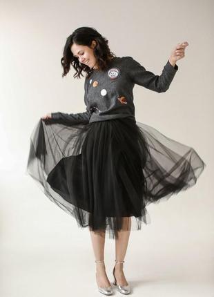 Модная трехслойная юбка пачка