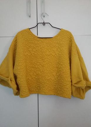 Желтая кофта свитер h&m
