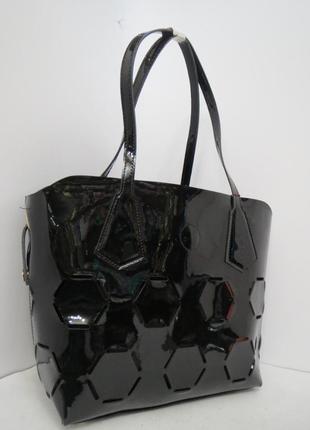 Кожа -лак фабричная  сумку farfalla rosso