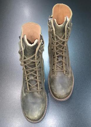 Ботинки берцы, сапоги в стиле милитари (унисекс) из натур. кожи twins, р. 31 (21,0 см.)