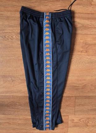 Крутые спортивные штаны на кнопках с лампасами kappa размер хл