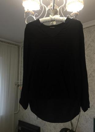 Чёрная блуза от massimo dutti