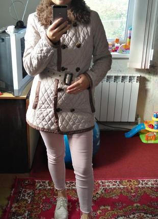 Демисизонная курточка, стеганное пальто2 фото