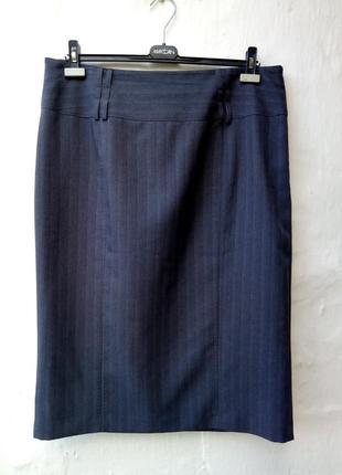 Новая меланжевая классическая юбка карандаш,большой размер,презентабельная,деловая.