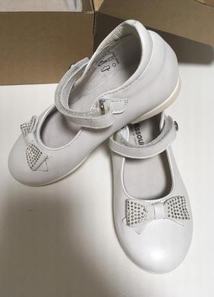 Оригинальные туфли missouri, италия, кожаные. белые туфельки
