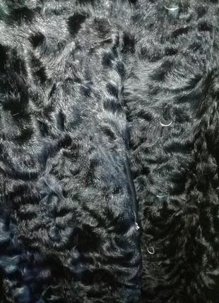 Довга чорна шуба із козлика5 фото