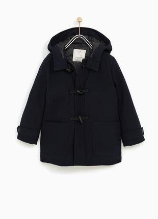 Драповое теплое пальто zara 164рост