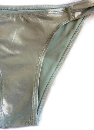 Блестящие плавки от купальника цвет мохито, 36