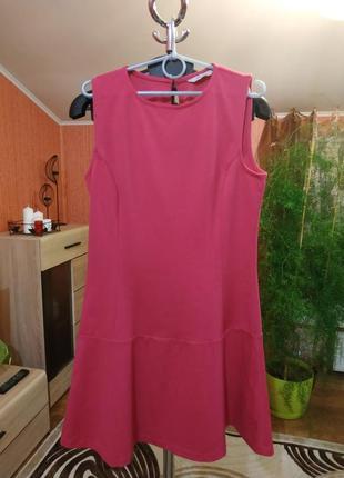 Трикотажное платье цвета фуксии!