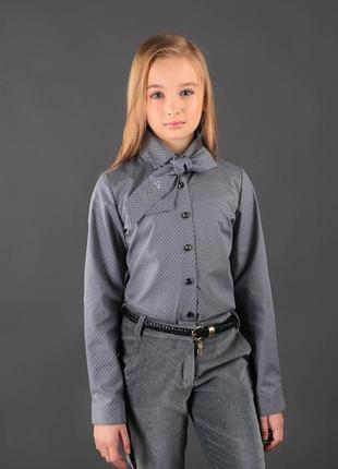 2d06a4b6413 Блузка с галстуком для девочки 2019 - купить недорого вещи в ...