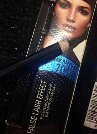 Тушь для ресниц max factor false lash effect (черно-голубая) + карандаш