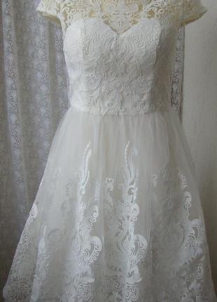 Платье женское вечернее бальное свадебное шикарное бренд chi chi р.44-46 6 №6530