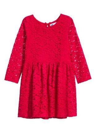 Новое нарядное платье н&м размер 4-6