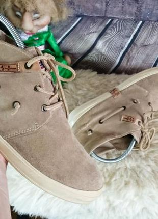 Мужские кеды ботинки napapijri. оригинал. натуральная замша. не носились.