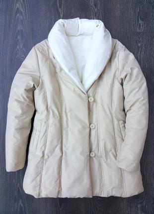 Essentiel натуральный двусторонний  пуховик одеяло 90% пух 10 % перо ( zara куртка )