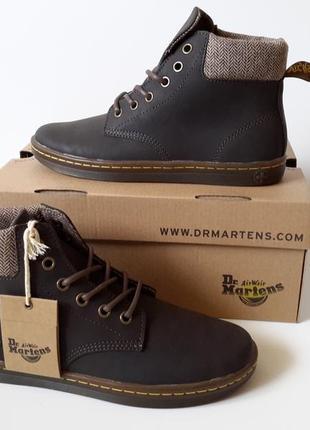 Женские демисезонные ботинки dr. martens. нубук. оригинал.