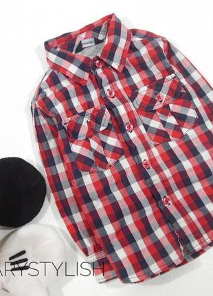 Рубашка в клетку, двойной хлопок george