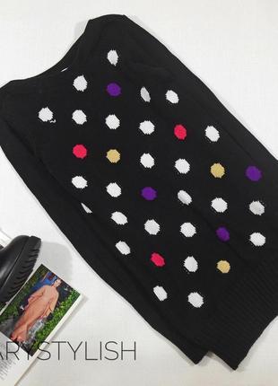 Черный свитер в горох h&m
