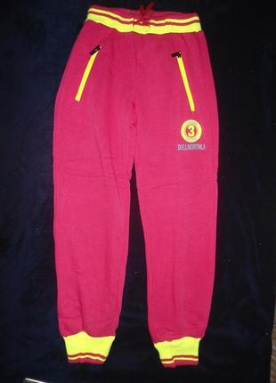 Спортивные штаны брюки 134,158-2шт., на девочку, утепленные, начес, венгрия