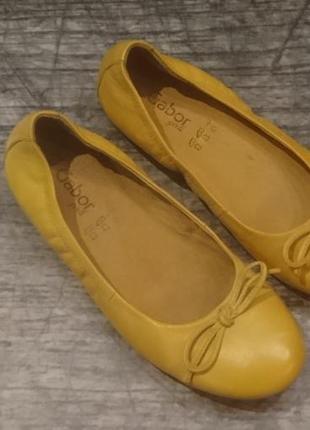 Балетки, туфли gabor натуральная кожа 35р2
