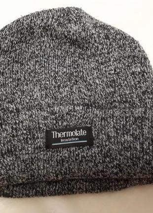 Теплая шапка мальчику termolate германия 134-152см/8-12 лет новая