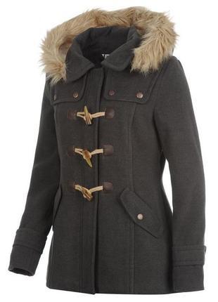 Брендове пальто жіноче kangol m [великобританія] (парка женская дафлкот)