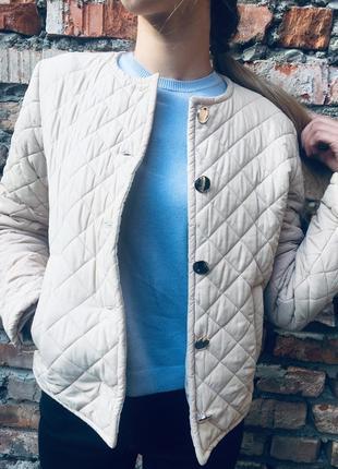 Пастельная куртка деми сезон