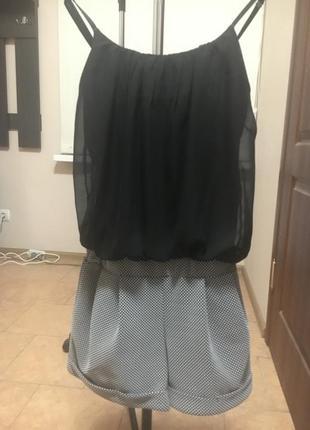 Сдельный костюм рубашка и шорты