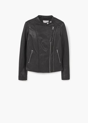 Кожаная куртка mango xs натуральная кожа куртка косуха
