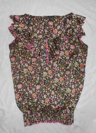 River island топ блуза с оборками, р.12, европ.38, м-ка