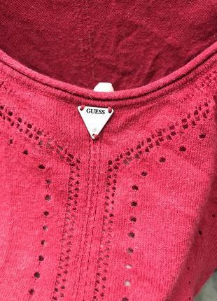 Кофта свитер джемпер водолазка лонгслив вязанная шерстяная guess