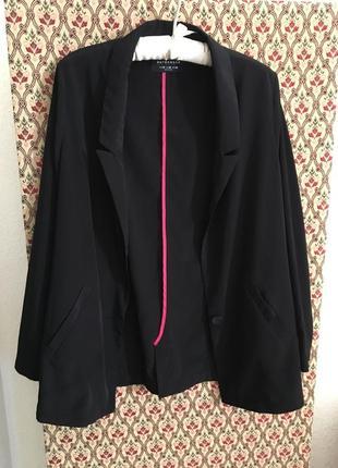 Пиджак жакет оверсайз черный накидка