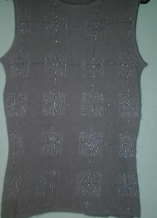 Расnродажа актуальная итальянская ангоровая кофта цвета пудры от hc fashion