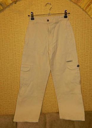Штаны джинсы бежевые на мальчика подростка ding dong1