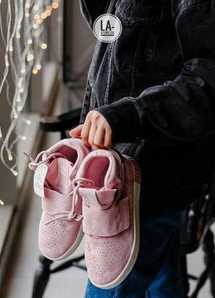 Новинка! нежные женские осенние кроссовки adidas tubular pink