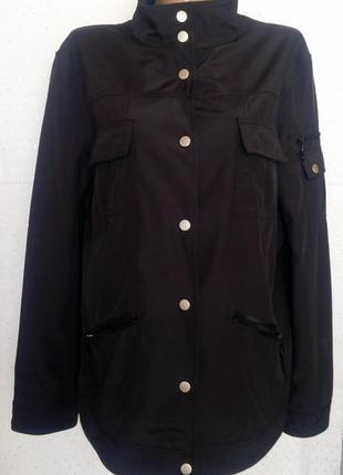 Демисезонная черная куртка (пог-59см)