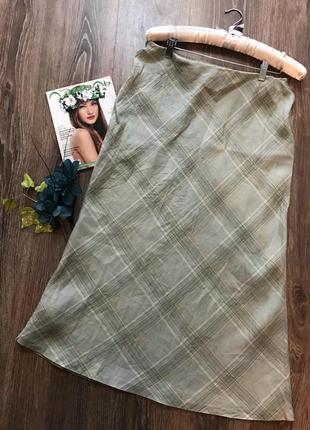 Льняная ретро- юбка
