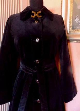 """Люксовое велюровое пальто """"ralph creation"""" - vintage черного цвета - м"""