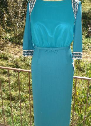 Нарядное платье с вышивкой. раз 50,52,54,56