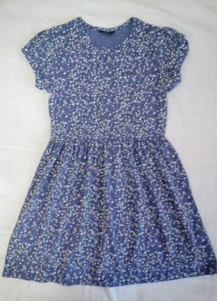 Платье в мелкий цветочек на р 146 -152 см 10 -12 лет