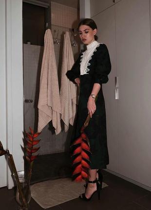 Льняное платье миди от zara
