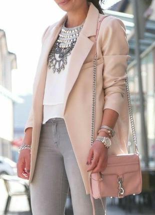 Удлиненный пиджак блейзер жакет