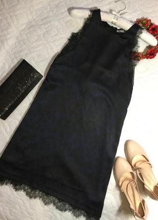 Платье вечернее с кружевом zara 12 размер