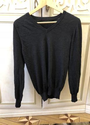 Тонкий свитерок шерсть с хлопком