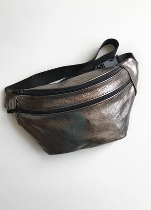6ea15b903bee Тренд 2018!сумка на пояс металик.женская трендовая сумка,бананка из  натуральной кожи