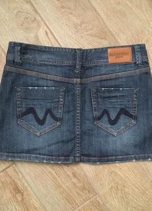 Юбка мини джинс blendshe 38размер