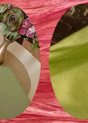 Оливковая штора тафта