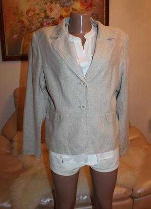 Натуральный лен, шикарный пиджак, размер l m casablanca