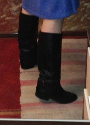 Кожаные сапоги на холодную осень