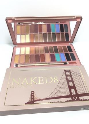 Тени urban decay naked 8, палетка на 24 цвета